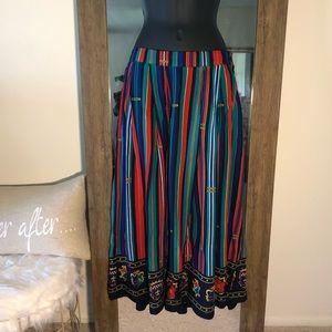 🎟Chaus Vintage Multi-print Skirt
